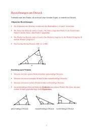 Bezeichnungen am Dreieck