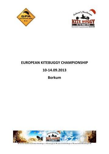 EUROPEAN KITEBUGGY CHAMPIONSHIP 10-14.09.2013 Borkum