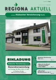 REGIONA AKTUELL - Atzbacher Versicherung VaG