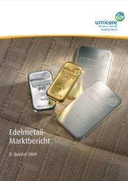 3. Quartal 2009 - Precious Metals Management - Umicore