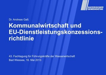 Kommunalwirtschaft und EU ... - ipse-service.de