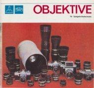 Objektive - VEB Pentacon Dresden - Photographica
