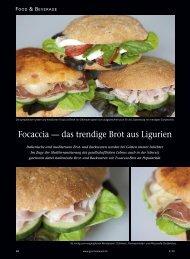 Focaccia — das trendige Brot aus Ligurien - Delitrade
