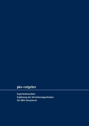 Die Broschüre als PDF zum Download (0,7 MB) - PKV-Ratgeber