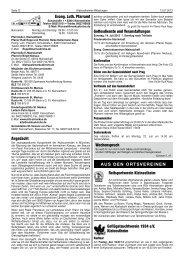 KW 28 - Vereinsring Kleinostheim
