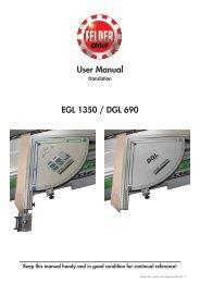 User Manual EGL 1350 / DGL 690
