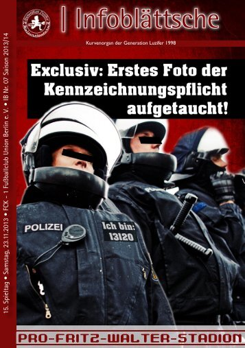 IB 7.13/14 - 1. Fußballclub Union Berlin e. V. - Generation Luzifer