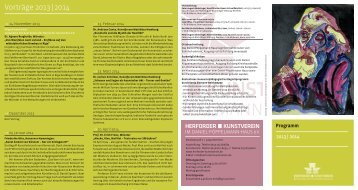 Vorträge 2013 | 2014 - Herforder Kunstverein