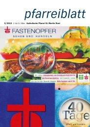 Pfarreiblatt März 2013 - Pfarrei Root