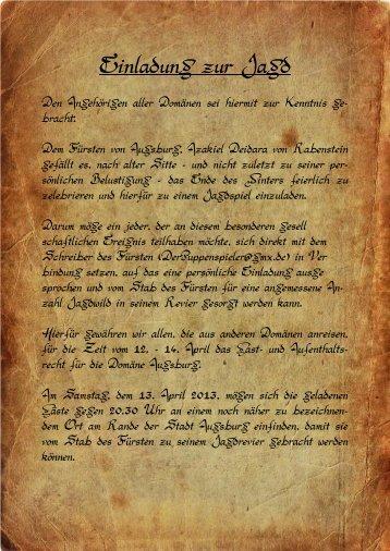 einladung fruehjahrsjagd 09_1 - reiterhof roth-kiliansdorf, Einladung