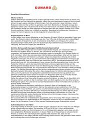 Kreuzfahrt-Informationen Alkohol an Bord Zollfreie alkoholische ...