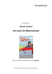 Ich mach dir Betonschuhe - Rowohlt Theaterverlag