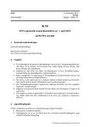 KTO's generelle overenskomstkrav pr. 1. april 2013 på RLTN's område