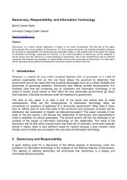 Democracy, Responsibility, and Information Technology 1 ...