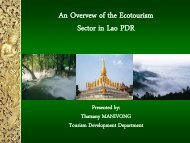 Natural tourist Sites in Lao PDR by