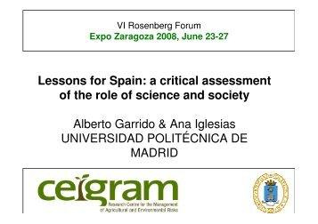 Lessons for Spain - Ayuntamiento de Zaragoza