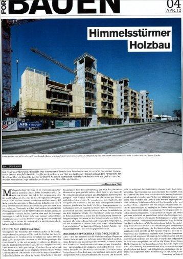 WHA Wagramerstrasse - Architektur u. BauForum 4/2012 - RWT