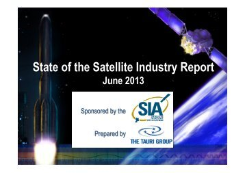 2013 Final State of the Satellite Industry Report