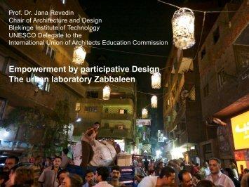 Empowerment by participative Design The urban laboratory ...
