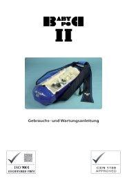 Gebrauchs- und Wartungsanleitung - The Baby Pod range