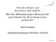 Hat das Endophänotypen-Konzept die psychiatrische Forschung ...
