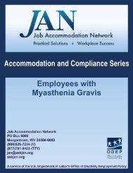 Employees with Myasthenia Gravis - Job Accommodation Network