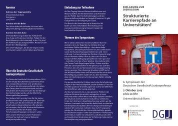 Flyer herunterladen - Deutsche Gesellschaft Juniorprofessur