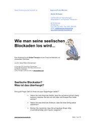 Wie man seine seelischen Blockaden los wird... - Gerda Schwaer
