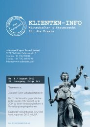 Klienten-Info 2013-08 - Advanced Expert Team Limited