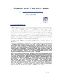 Detailed CV - National Institute of Urban Affairs