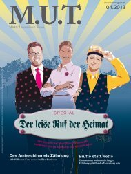 Die aktuelle Ausgabe herunterladen. Die ePaper ... - MUT Magazin