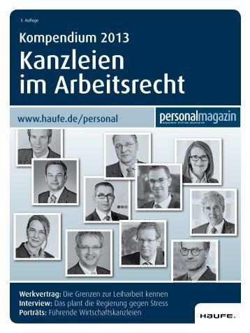 Kanzleien im Arbeitsrecht - Haufe.de