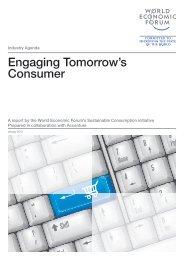 Engaging Tomorrow's Consumer - World Economic Forum