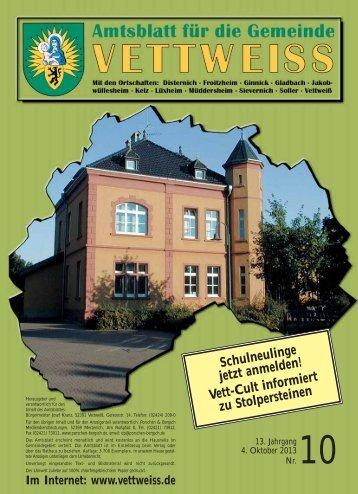 Oktober 2013 - Gemeinde Vettweiß