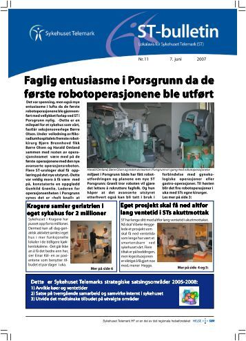 ST-Bulletin nr 11-akuttmottak-fokus-p65.p65 - Sykehuset Telemark HF