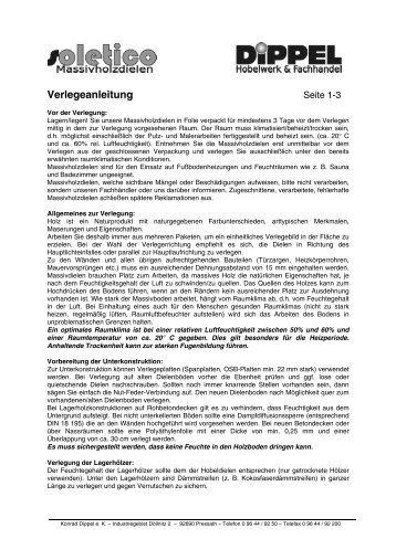 Verlegeanleitung - DIPPEL Konrad eK