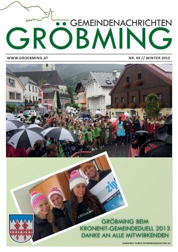 Gröbminger Gemeindenachrichten Winter 2013