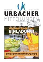 Urbacher Mitteilungsblatt vom 26.09.2013 - Gemeinde Urbach