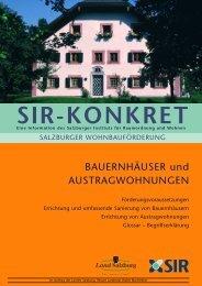 SIR-Konkret - Wohnen in Salzburg