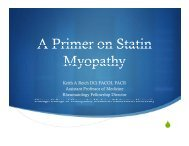 A Primer on Statin Myopathy - American College of Osteopathic ...
