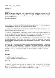 JORF n°185 du 11 août 2006 Texte n°33 ARRETE Arrêté du 10 août ...