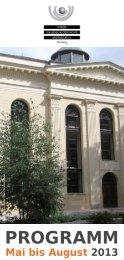 Mai bis August 2013 - Forum für Jüdische Geschichte und Kultur e ...