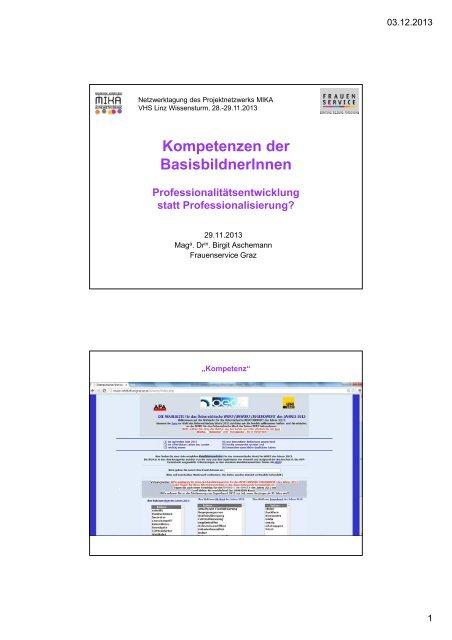 Vortrag Aschemann - Netzwerk MIKA