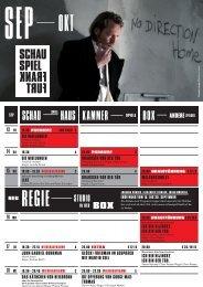 Kammer SCHaU SPiEl HaUS - Schauspiel Frankfurt