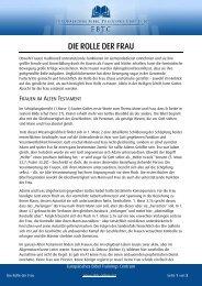 DIE ROLLE DER FRAU - EBTC