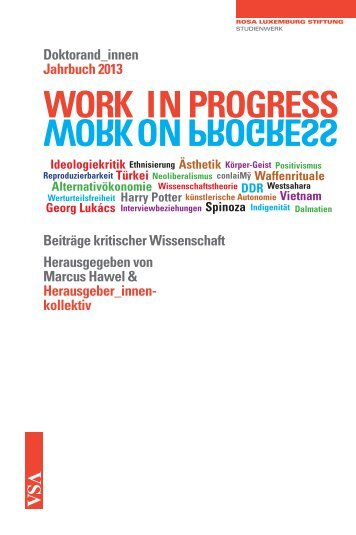 WORKONPROGRESS WORK IN PROGRESS ON - VSA Verlag