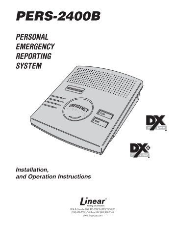 PERS-2400B Manual - Linear