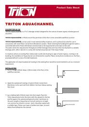 Triton Aqua Channel Data Sheet Download