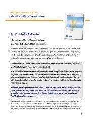 Der Erbschaftsblock online - Volksbank Mittelhessen