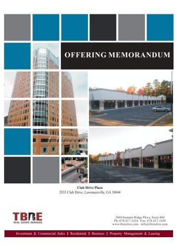 Hermitage tennessee browning development solutions for Real estate offering memorandum template